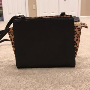 Small Black and Cheetah Crossbody Bag